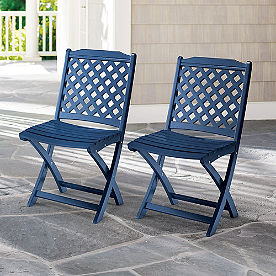 Carolina Folding Chairs, Set of Two