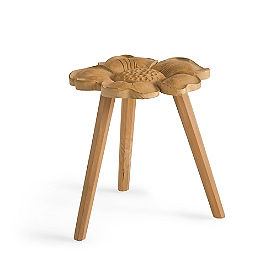 Indra Floral Garden Stool