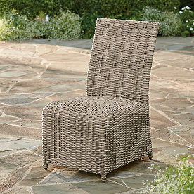 Simsbury Outdoor Wicker Side Chairs, Set of Two