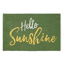 Hello Sunshine Hooked Door Mat