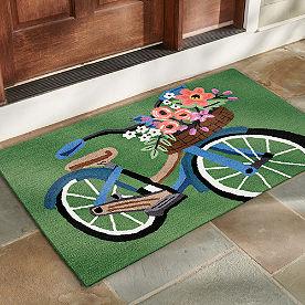 Blossom Bike Hooked Door Mat