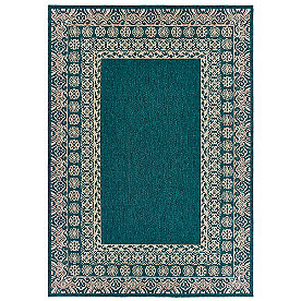 Arwen Blue Border Outdoor Rug