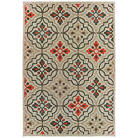 Arwen Grey Floral Outdoor Rug