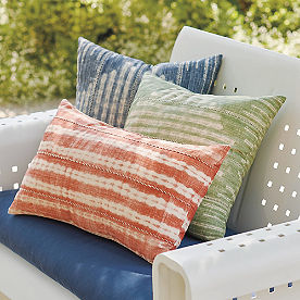 Shibori Outdoor Pillows