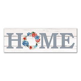 Home Patriotic Wreath Canvas
