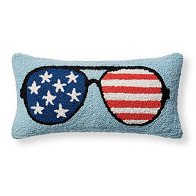 Sunglasses Hooked Pillow