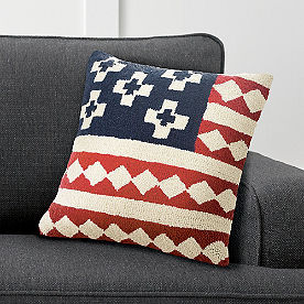 Flag Kilim Hooked Pillow