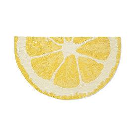 Lemon Slice Hooked Door Mat