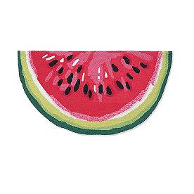 Watermelon Slice Hooked Door Mat