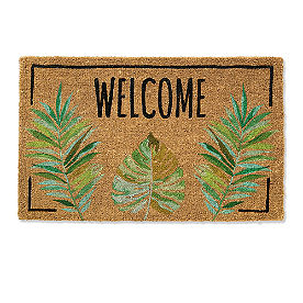 Welcome Palm Coir Door Mat