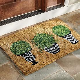 Topiary Coir Door Mat
