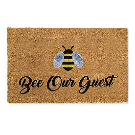 Bee Our Guest Coir Door Mat