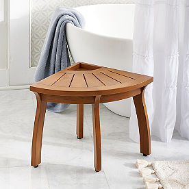 Liza Corner Teak Shower Bench