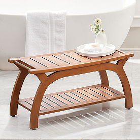 Liza Wide Teak Shower Bench