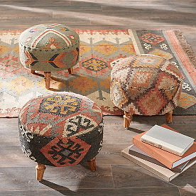 Kilim Round Ottomans