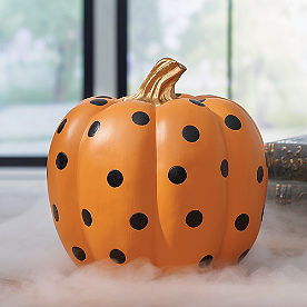 Large Dot Designer Pumpkin