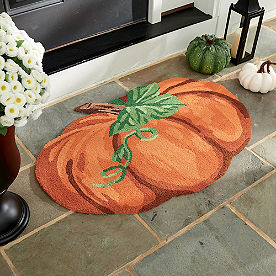 Pumpkin Shaped Door Mat