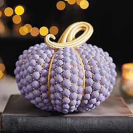 Lavendar Beaded Pumpkin