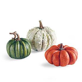 Fairytale Pumpkins, Mini Set of Three