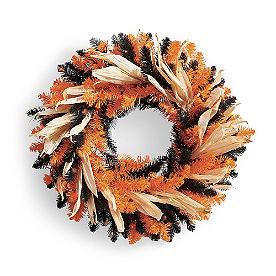 Halloween Husk Cordless Wreath
