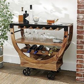 Arlington Sheesham Bar Cart