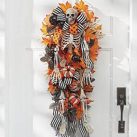 Halloween Skeleton Door Swag