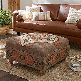 Kilim Coffee Table Ottoman