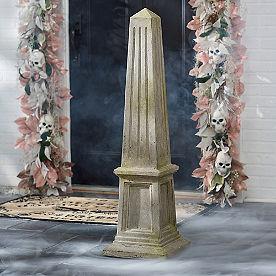Stone Moss Obelisk Topiary