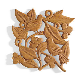 Carved Wood Bird Wall Art