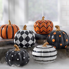 Mini Designer Pumpkins, Set of Three