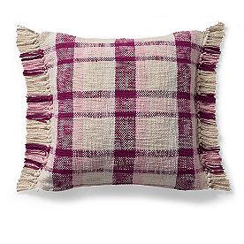 Audrey Woven Plaid Pillow