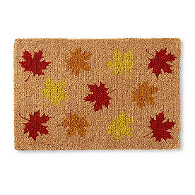 Scatter Leaves Coir Door Mat
