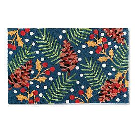 Festive Foliage Hooked Door Mat