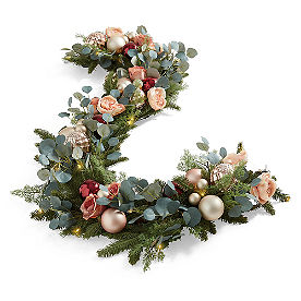 Blushing Winter Cordless Garland