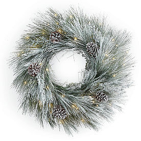Icy Pine Cordless Wreath