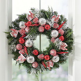 Vintage Village Wreath