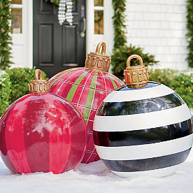 Yard Ornament, Red Plaid
