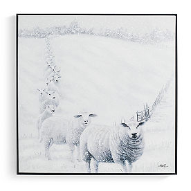 Snowy Sheep Art