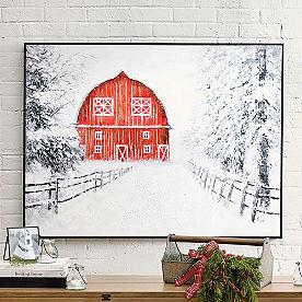 Winter Barn Art