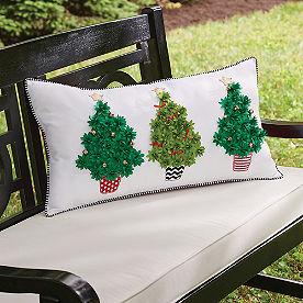 Topiary Tree Outdoor Pillow