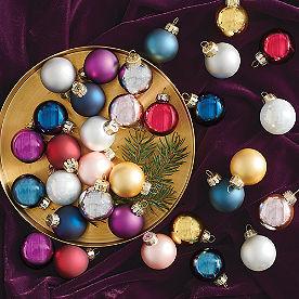 Midnight Jewel Mini Ornaments, Set of 32