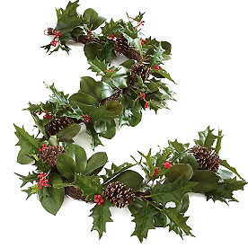 Holly and Magnolia Garland