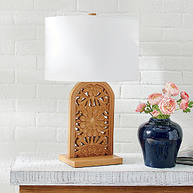 Primrose Carved Lamp