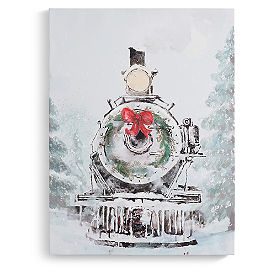 Winter Train Art