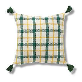Green Plaid Pillow