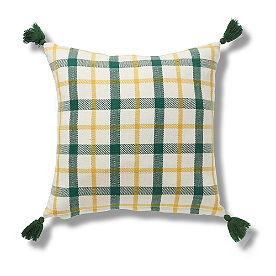Green Plaid Pillow