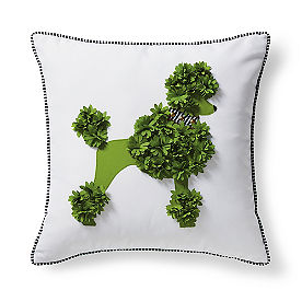 Poodle Topiary Outdoor Pillow