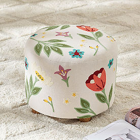 Gianna Embroidered Ottoman