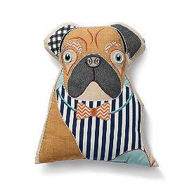 Bulldog Dog Shaped Pillow