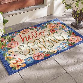 Hello Spring Hooked Door Mat